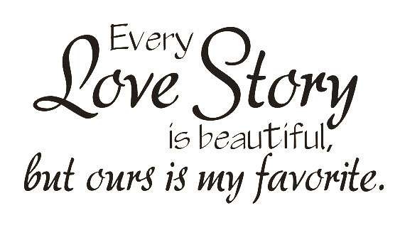 Muursticker Every Love Story Houseofshira