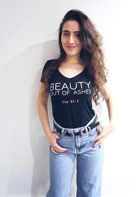 T shirt Beauty v hals